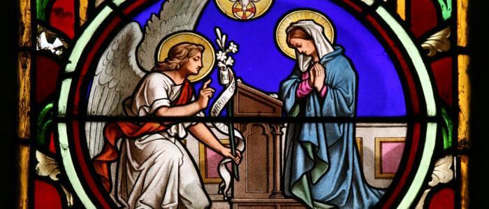 Maria met engel