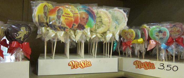 lolly's met afbeelding van paus