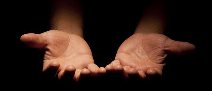 ontvangende handen