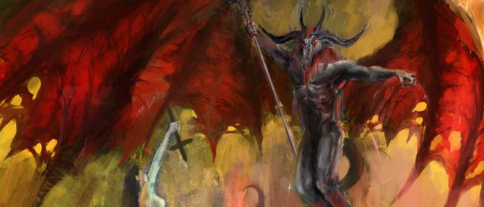 schilderij van de duivel