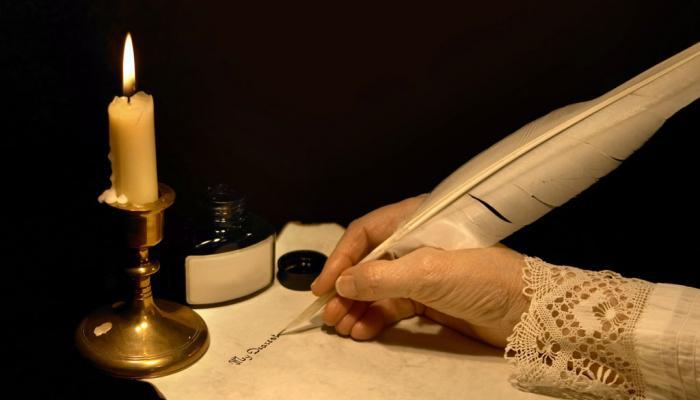 schrijven met inkt en veer