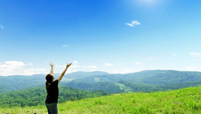 bidden in de natuur